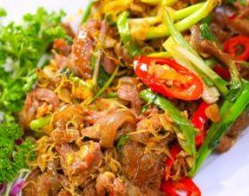 Dê xào sả ớt - Món ngon đặc sản Ninh Bình