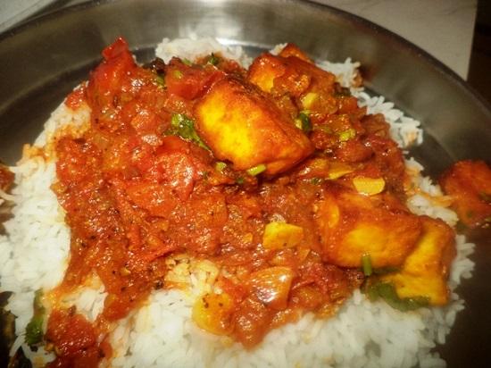 Món cà ri đậu phụ của Ấn Độ