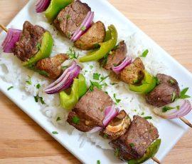 Món thịt bò nướng xiên cực thơm ngon