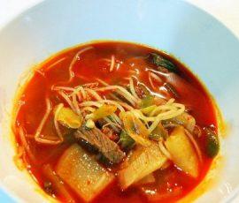 Món canh thịt bò củ cải cay cực ngon