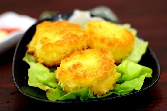 Món đậu hũ trứng chiên xù thơm ngon