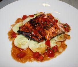Món cá hồi sốt Hoisin ngon khó cưỡng