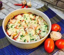 Món cá sốt cà chua phô mai bỏ lò