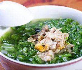 Món canh rau cải cá rô đồng ngon không bị tanh