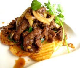 Món thịt bò xào khoai tây chiên