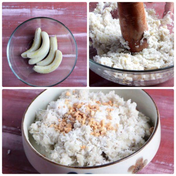 Cách làm chuối quết dừa